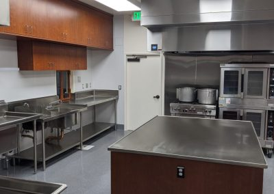 New cooking area